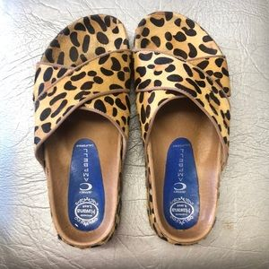 Jeffrey Campbell leopard/cheetah chunky sandals 9